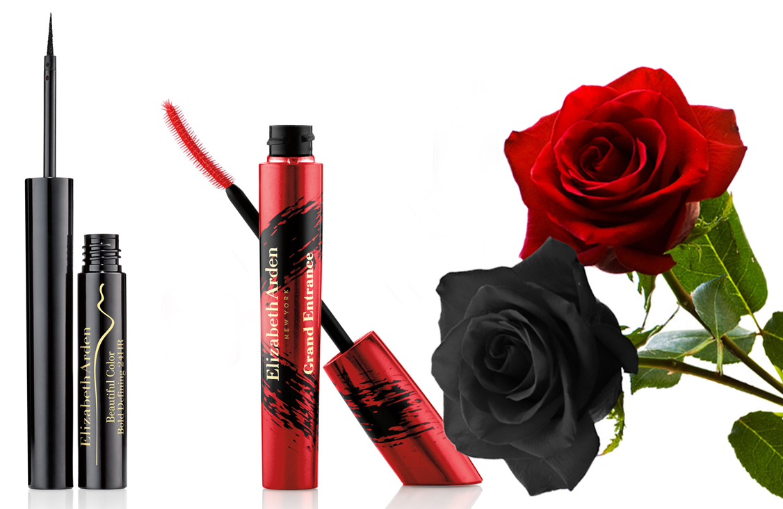Elizabeth Arden grand entrance mascara, bold definging 24h eye liner