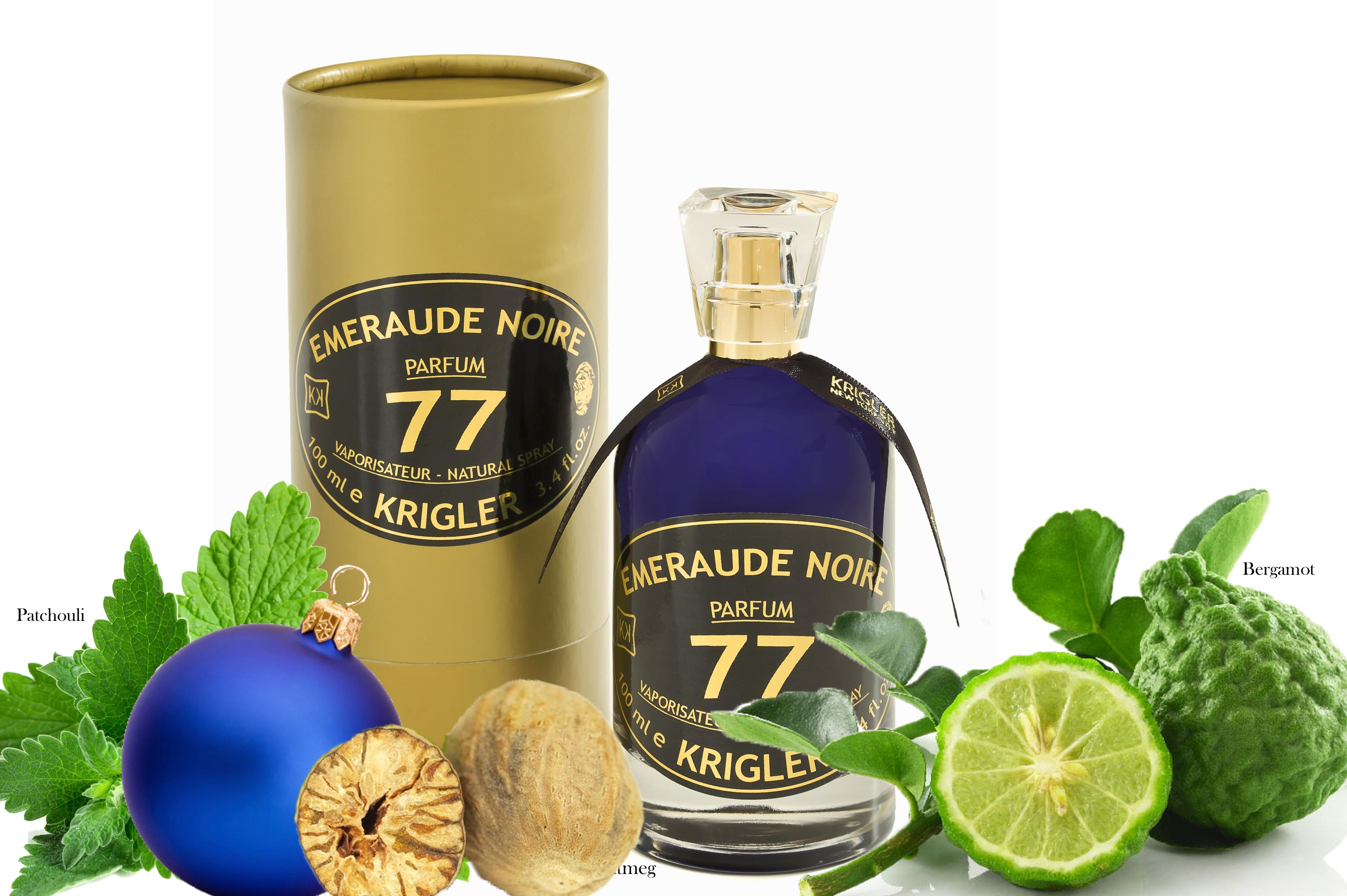 Krigler fragrances, emeraude noire, holiday shopping