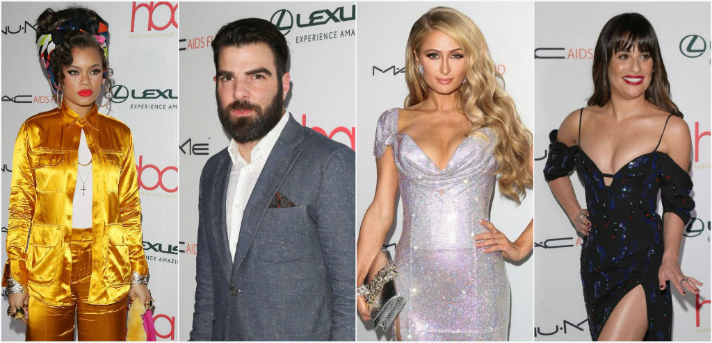 2017 Hollywood beauty awards, andra day, paris hilton, zachary quinto, lea michele