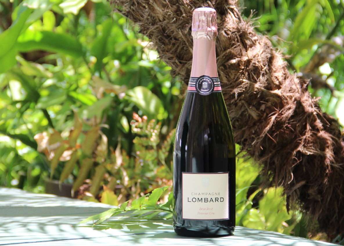 champagne lombard, brut rose premier cru, michele elyzabeth, review