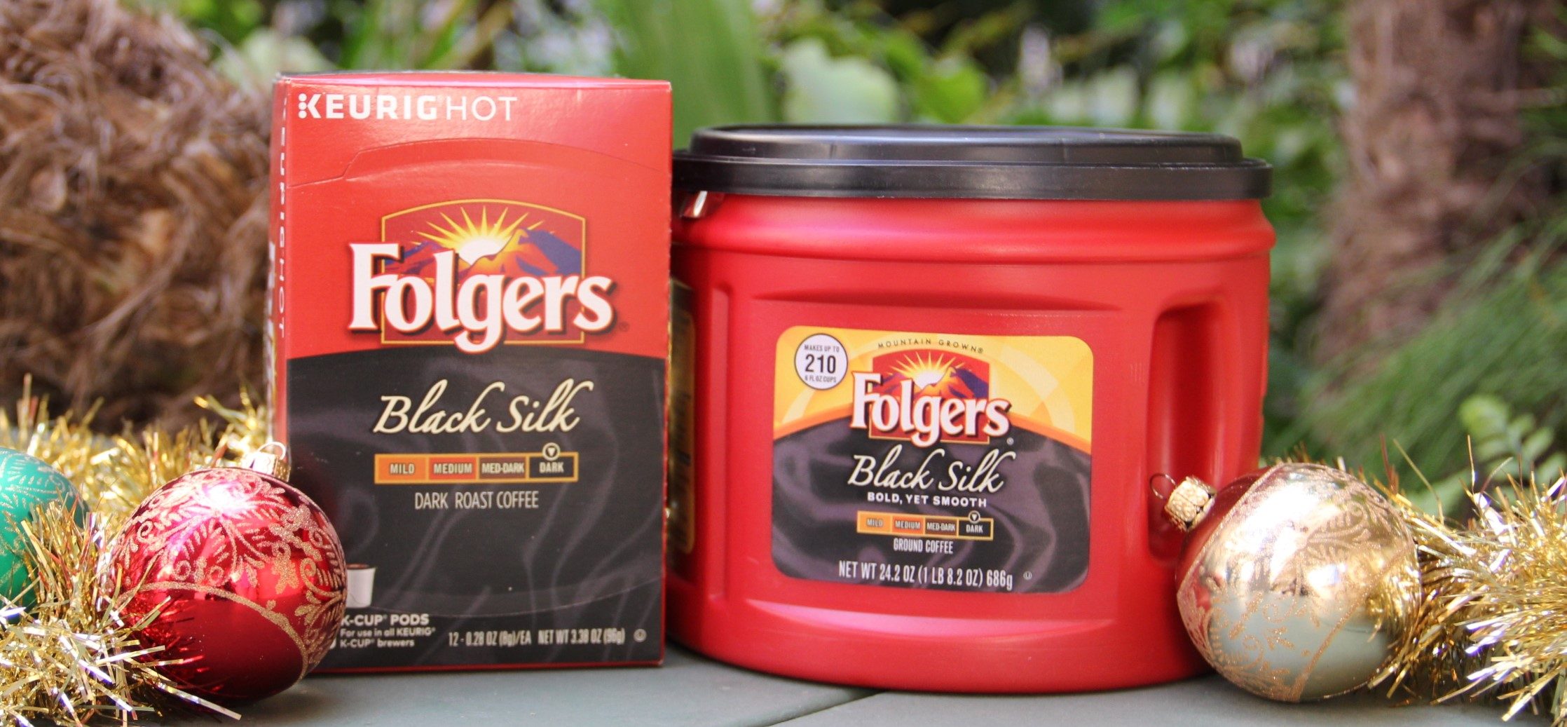 folgers coffee for the holidays, black silk