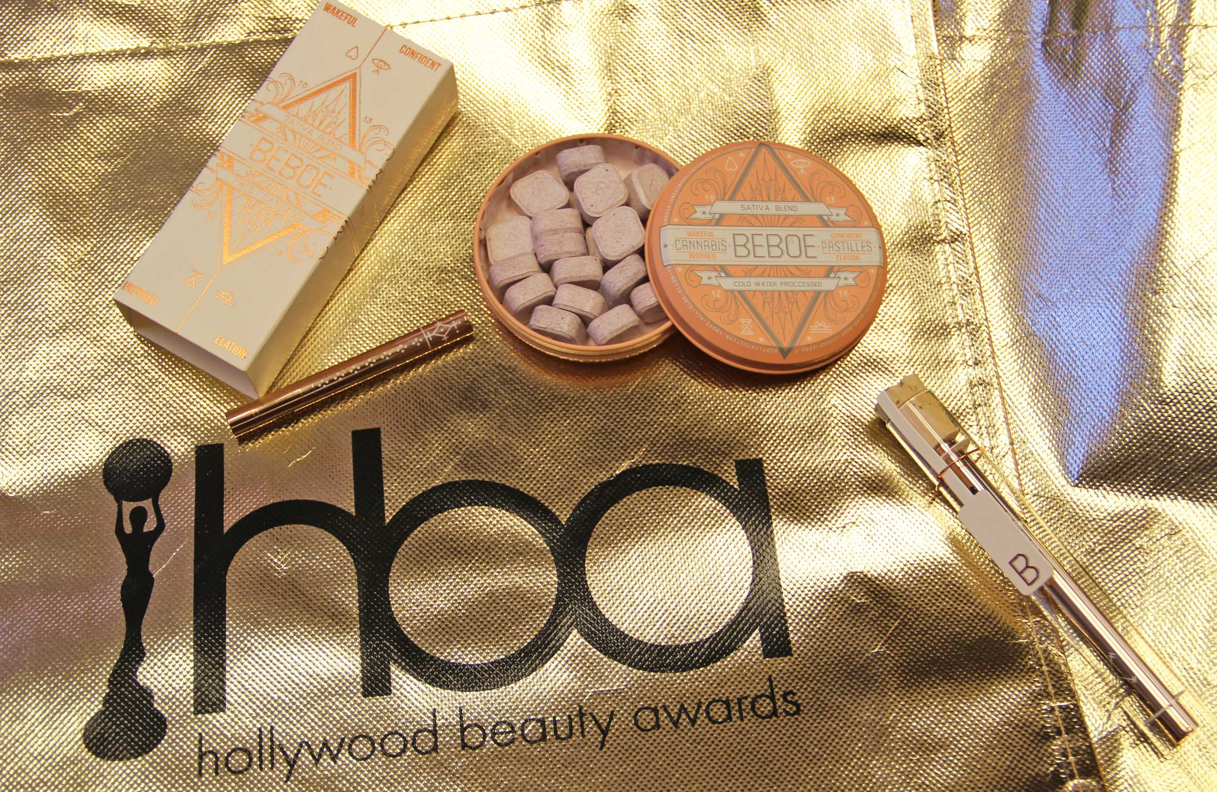 2018 hollywood beauty awards gift bags, beboe