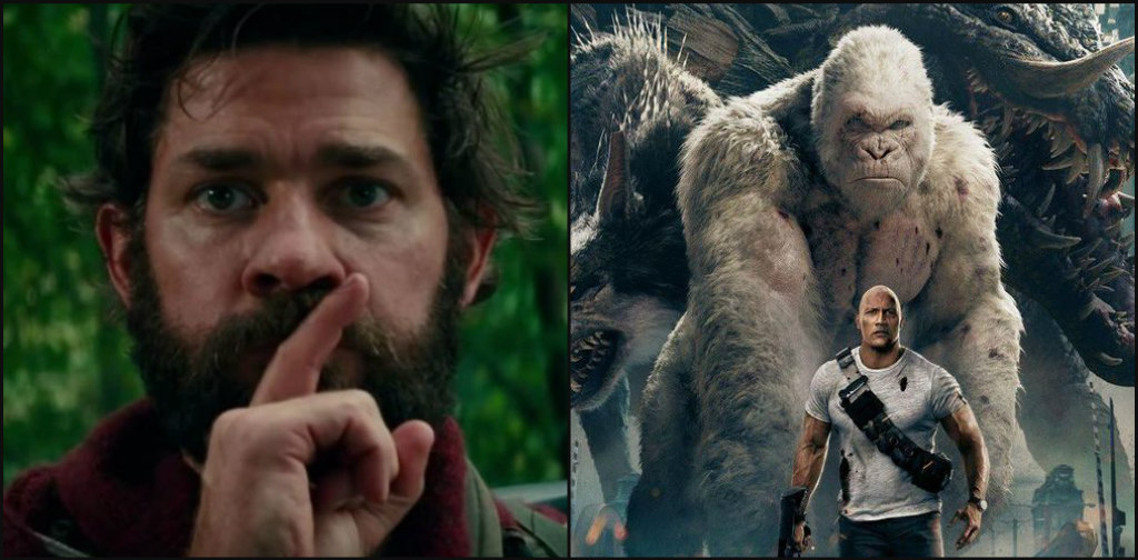a quiet place, rampage, box office