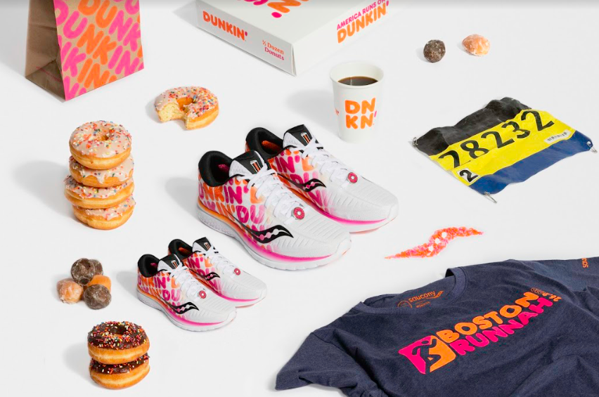 dunkin donuts, saucony