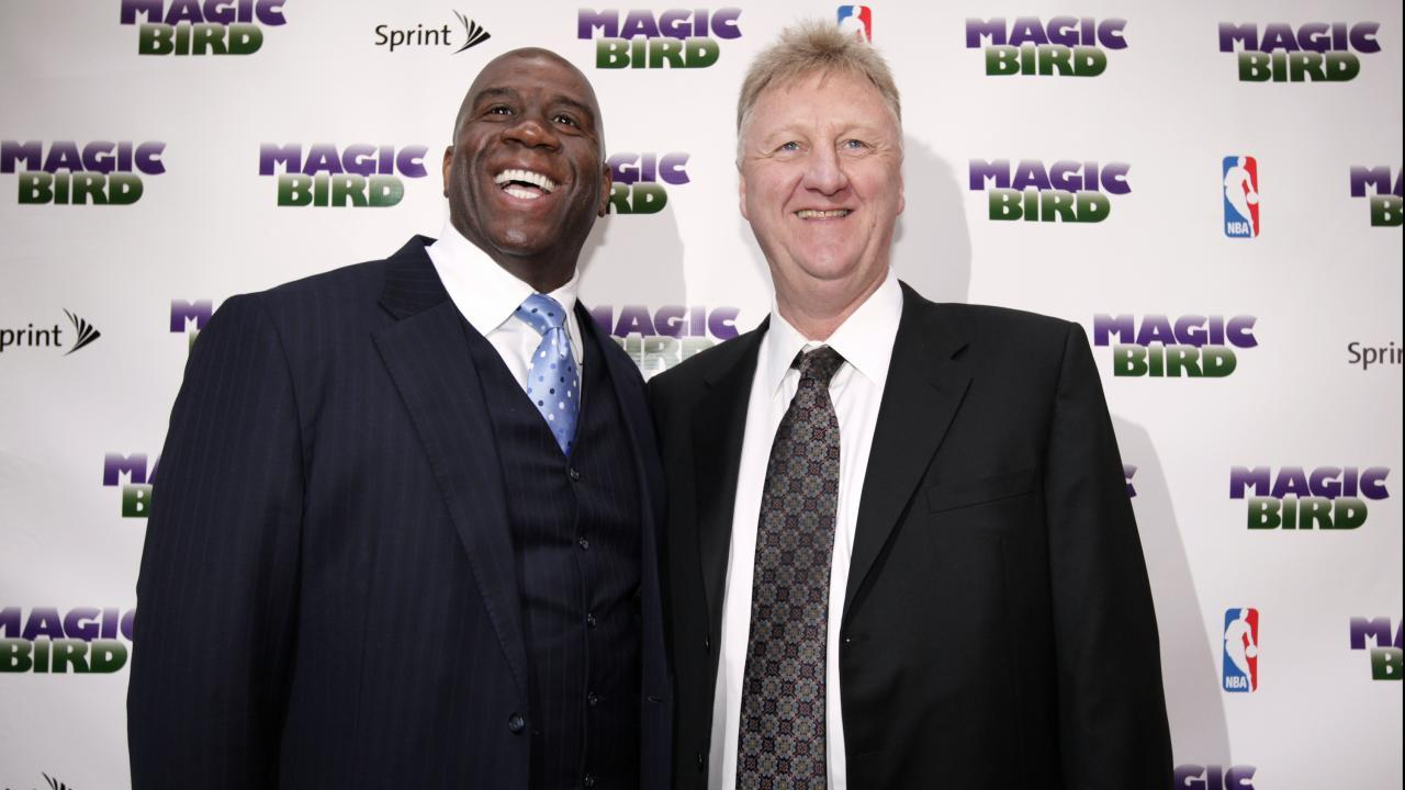 magic johnson, larry bird, tnt