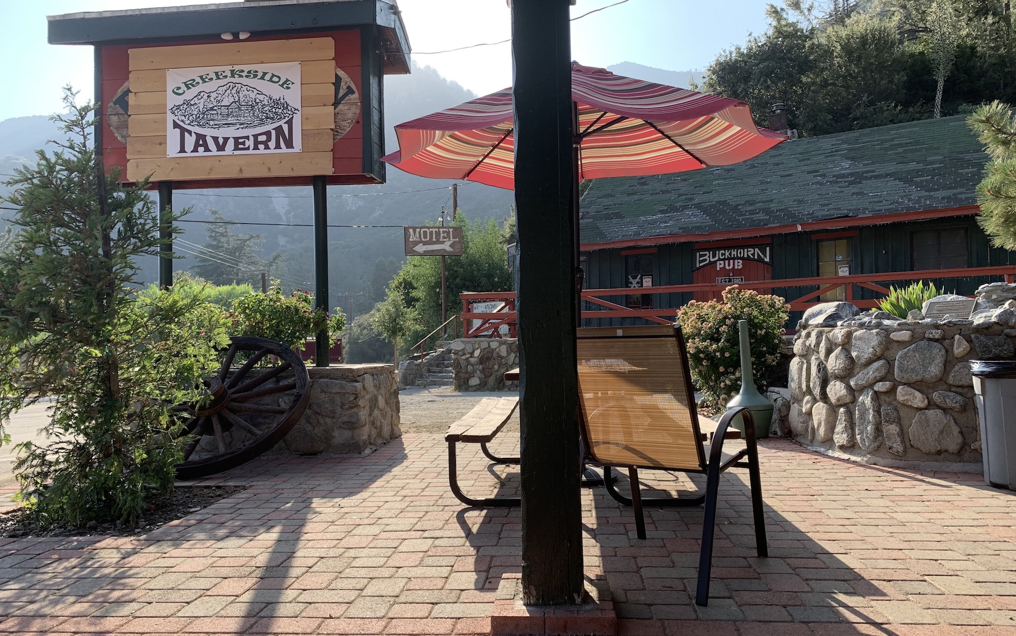 Buckhorn Lodge, mount baldy, creekside tavern