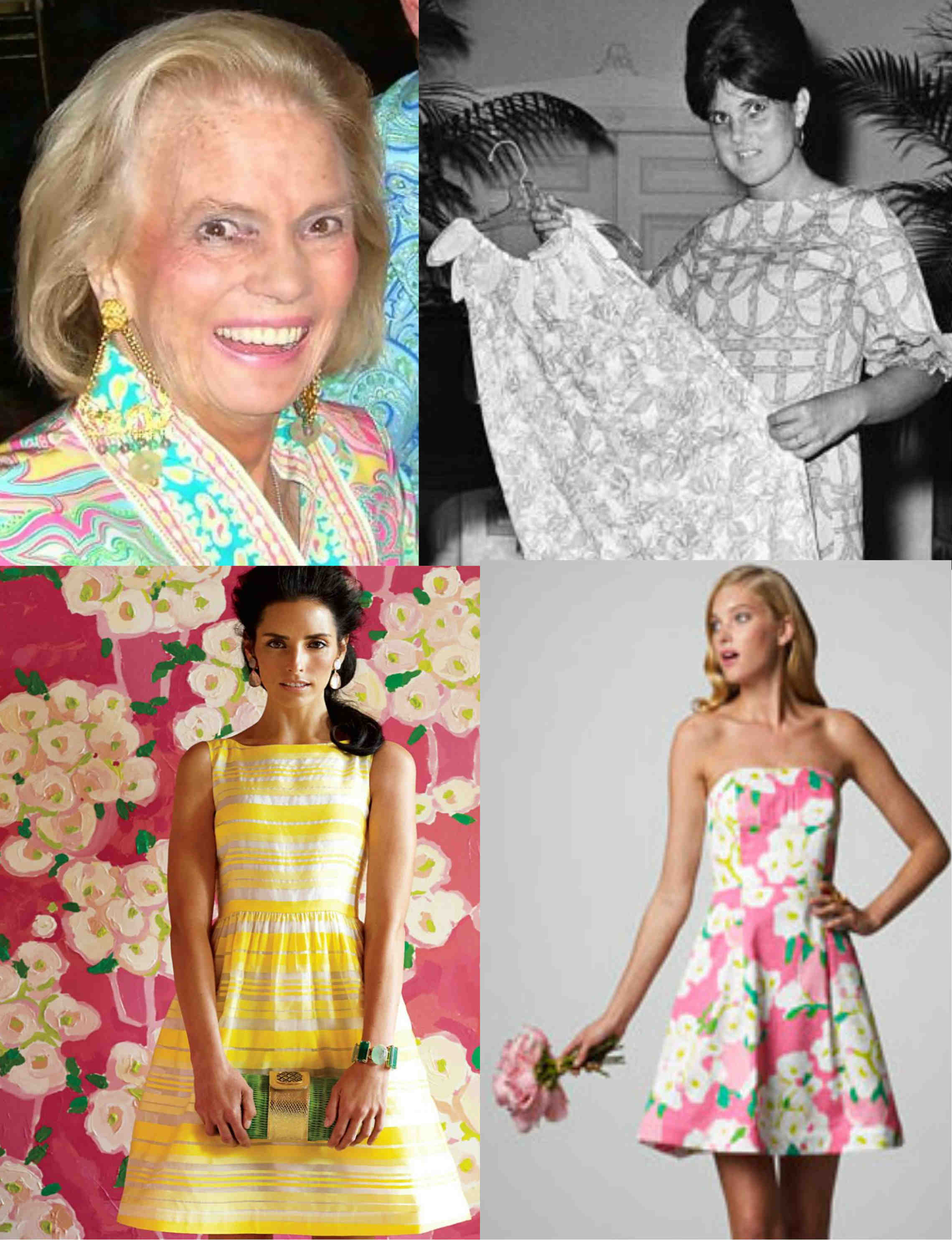 Tall Brunettes And Blondes Twirling Under The Sun In Preppy Pink Green Yellow Dresses One Could Spot A Lilly Pulitzer Dress From Mile Away