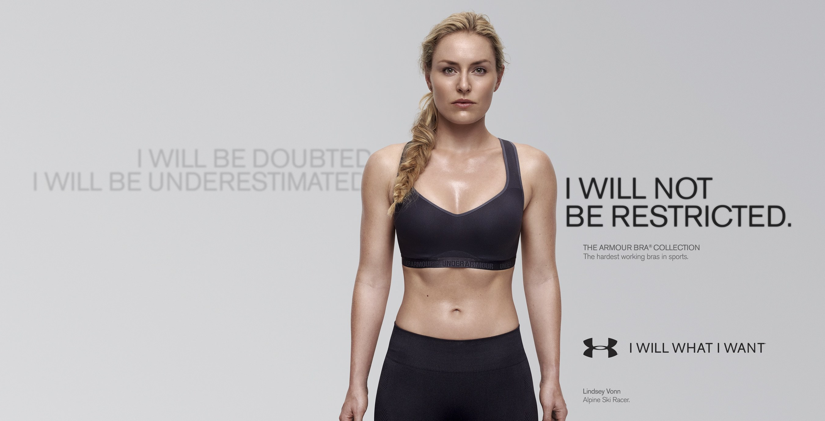 25f88b24b67 Today Under Armour launched their latest women s-focused campaign with  World Champion downhill skier and UA Woman of Will Lindsey Vonn.