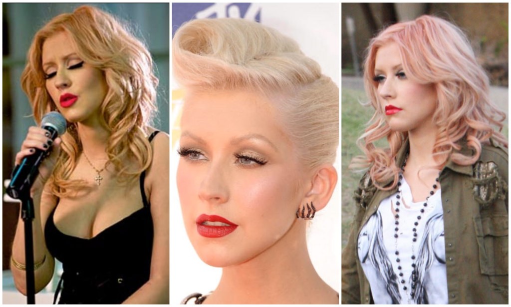 Christina aguilera, hair color, by Dianne Degnan
