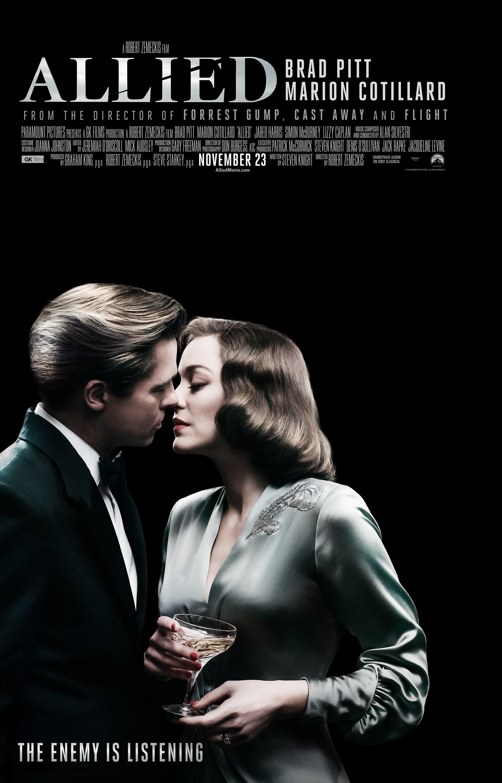 new allied movie poster starring brad pitt amp marion