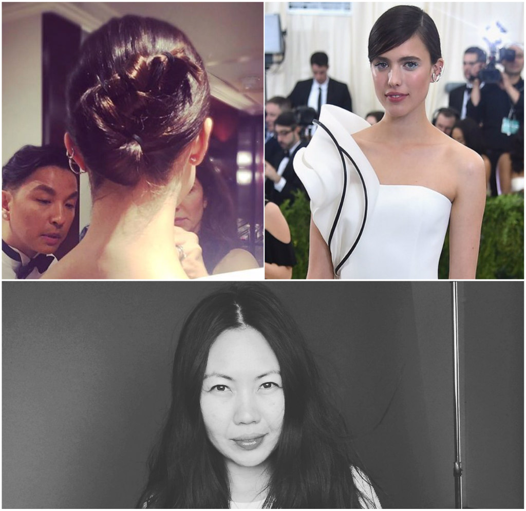 jenny cho, margaret qualley, met gala