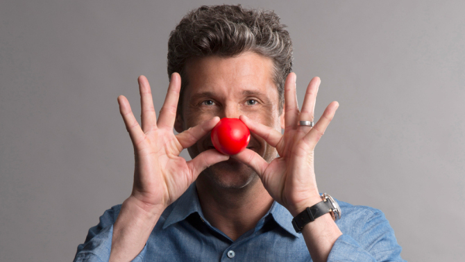 red nose day love actually, patrick dempsey