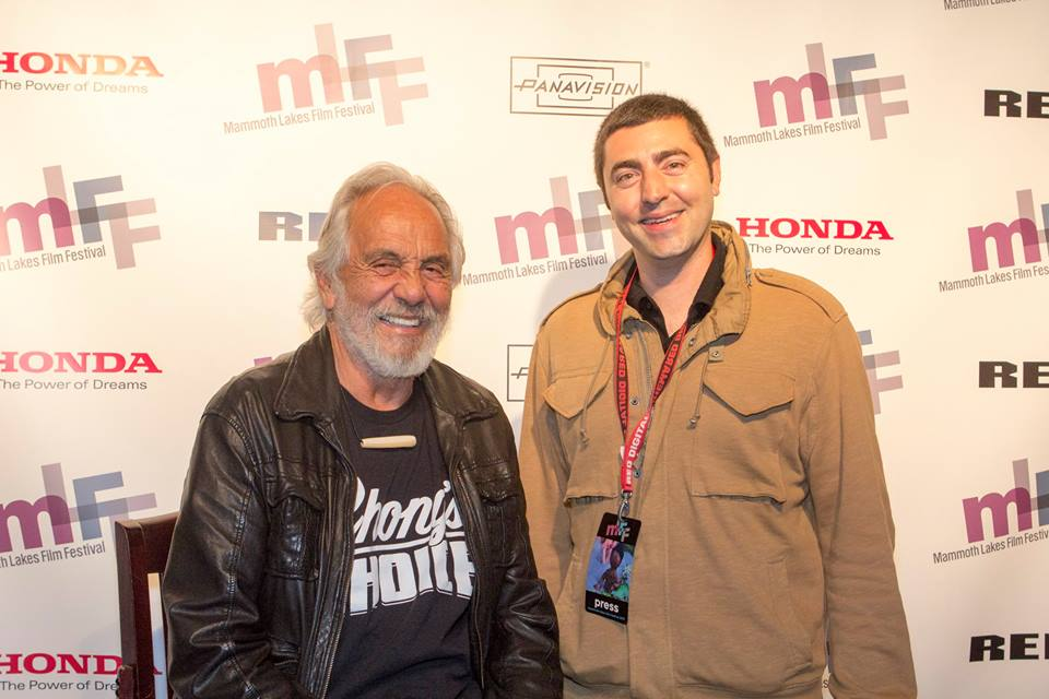 Tommy Chong with LATF's writer Lucas Mirabella