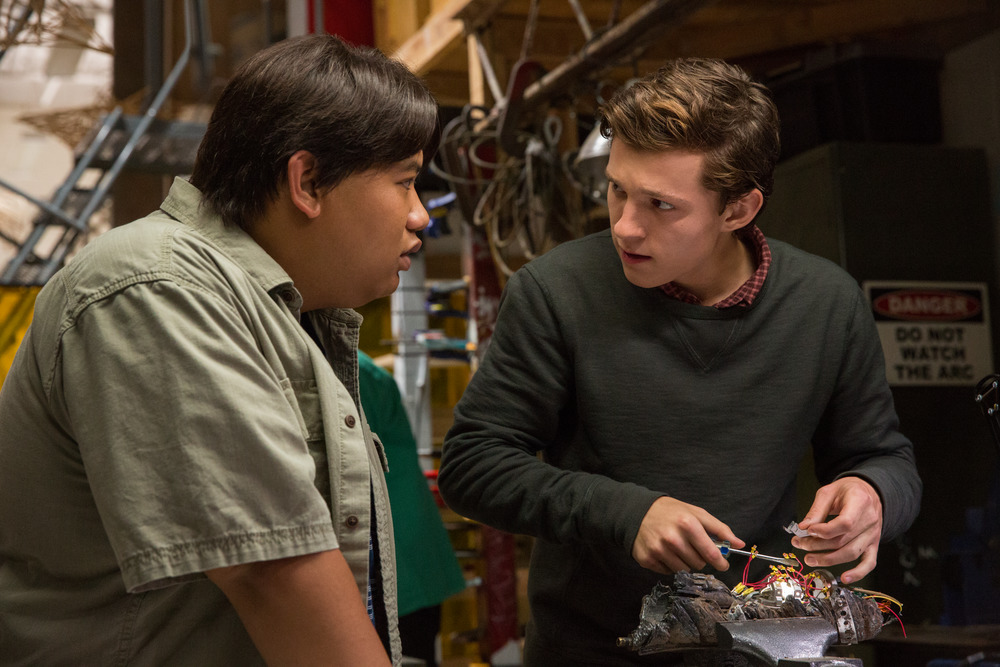 Jacob Batalon and Tom Holland