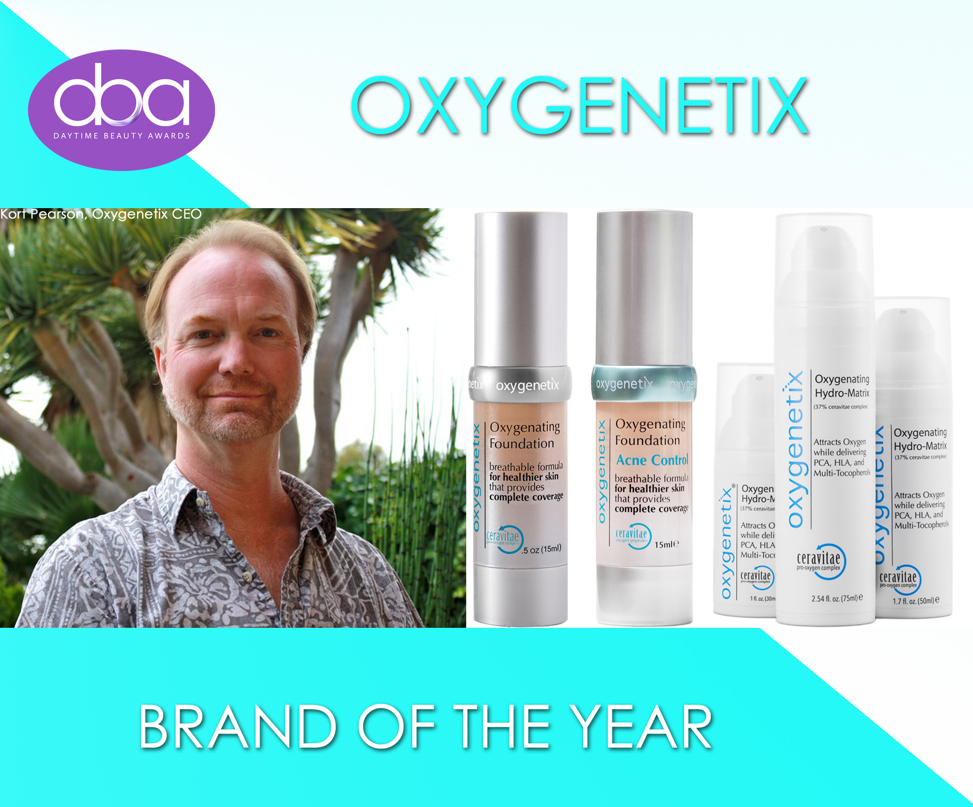 Oxygenetix, daytime beauty awards, kort pearson