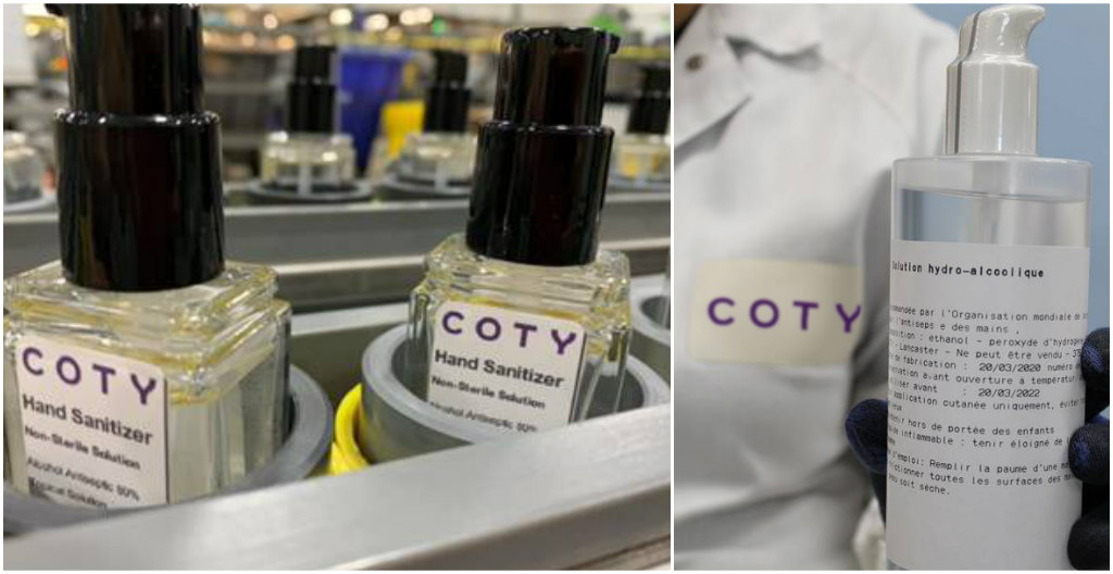 coty, hand sanitizer