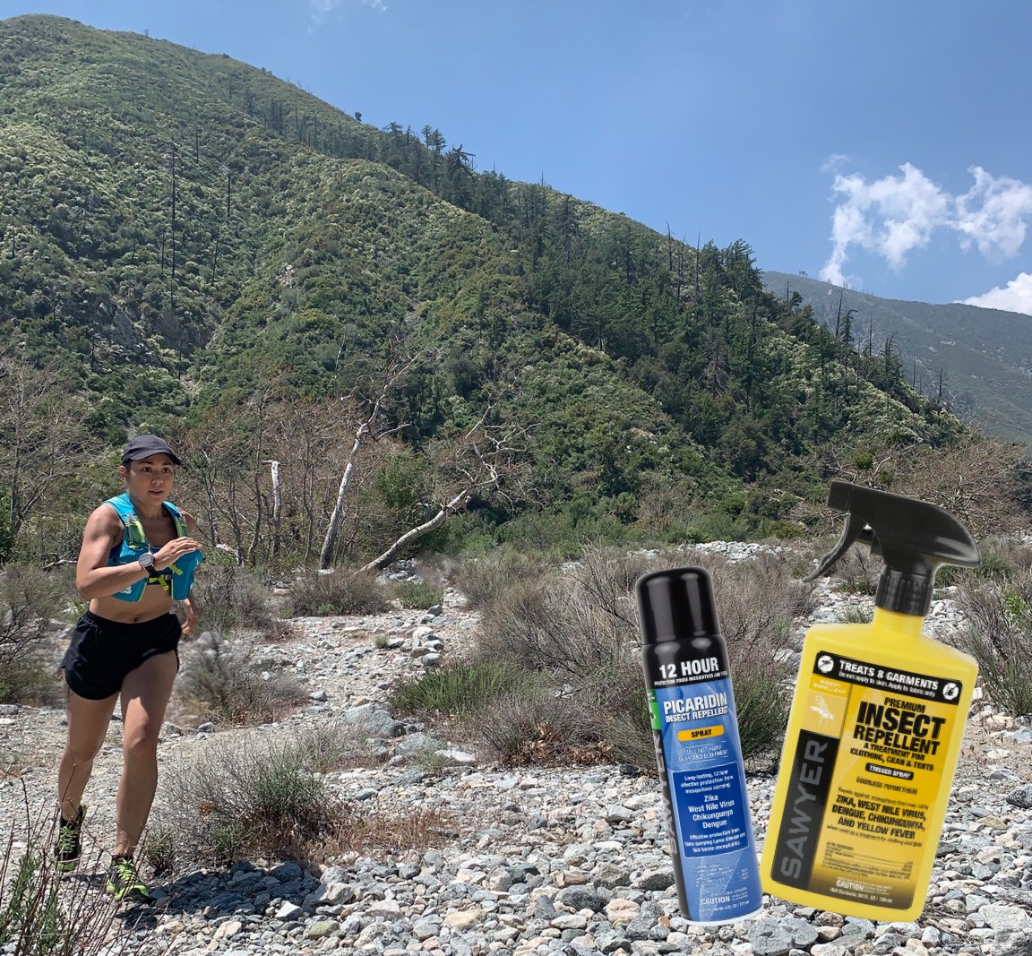 sawyer insect repellent, trail running