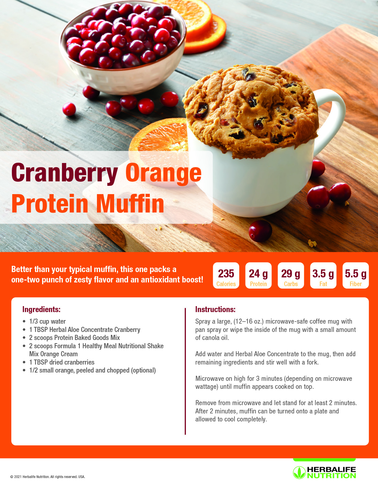 herbalife nutrition, protein baked goods, cranberry muffin recipe