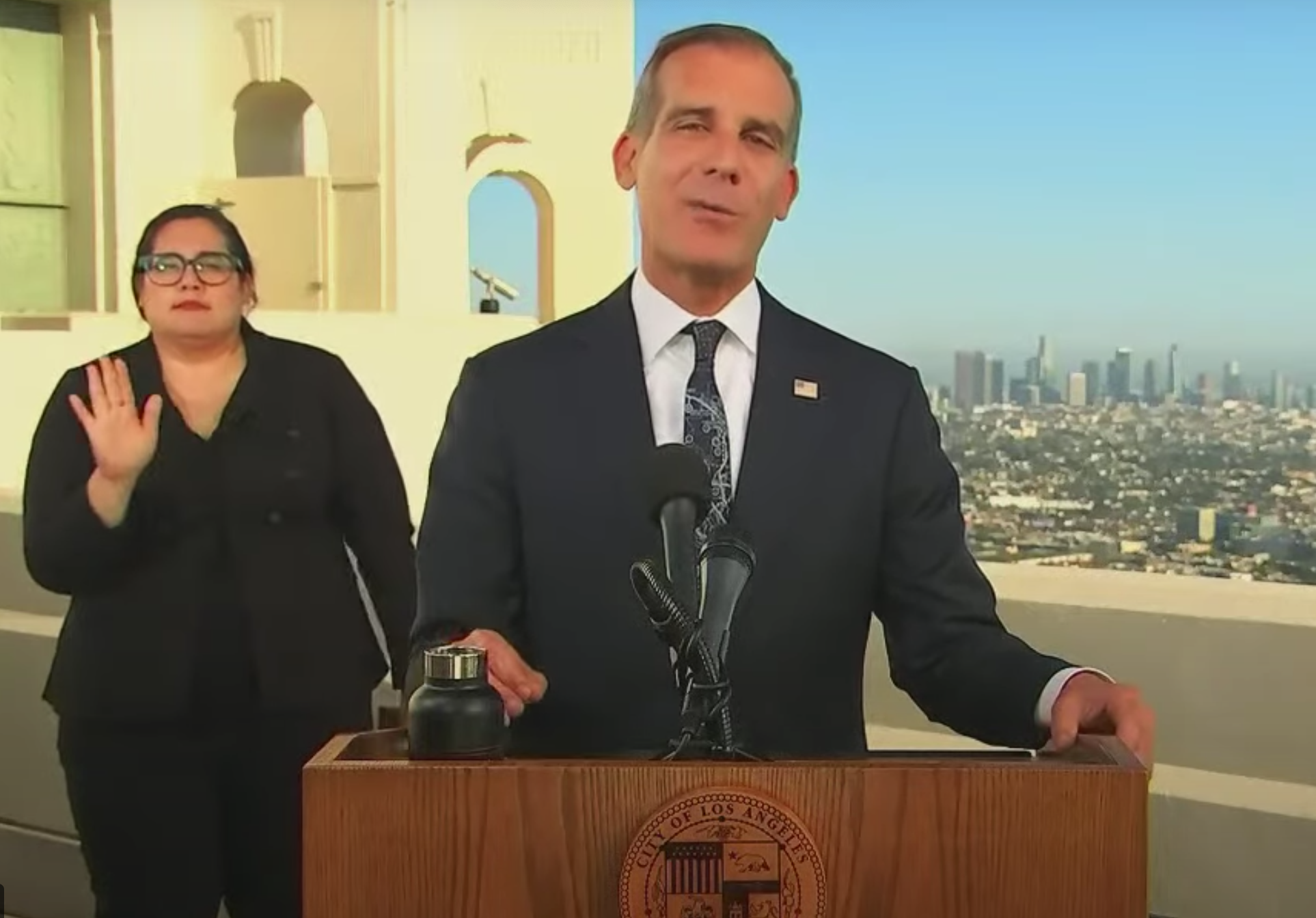 mayor garcetti, los angeles, state of the city
